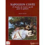 【预订】Napoleon Coste, 25 Etudes de Genre Op. 38: Solo