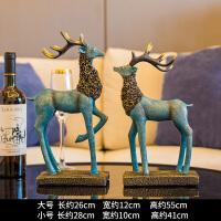 鹿摆件欧式创意家居家装饰品室内客厅酒柜创意电视柜玄关