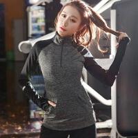 大码运动外套胖mm200斤跑步健身衣女装秋装微胖遮肉速干衣瑜伽服