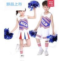 儿童款足球啦啦操健美操无袖童装舞台操演出服舞蹈服练功服装