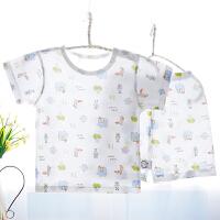 夏季宝宝短袖内衣套装男童女童家居服薄款睡衣