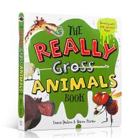 英文原版 The Really Gross Animals Book 真正的动物精装图画书 儿童百科普亲子互动趣味了解