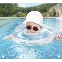 婴儿游泳圈宝宝脖圈新生儿柔软充气颈圈双气囊
