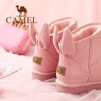 骆驼户外雪地靴冬季甜美可爱学院风女雪地靴日系学生兔耳短靴潮款