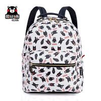 熊本熊kumamon男女休闲双肩包潮流背包上学书包旅行包17KM112
