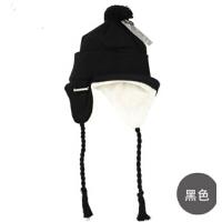 男女士冬季毛线帽秋冬帽 保暖针织帽男女加厚绒护耳帽