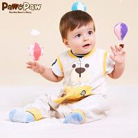 【3件3折 到手价:137】Pawinpaw卡通小熊童装春夏男女宝宝卡通无袖婴幼童连体衣