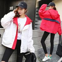 短款外套2019新款少女春秋装初中高中学生韩版潮宽松两面穿上衣服