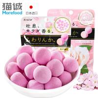 日本进口糖果 kracie玫瑰香味糖果32g 香丸型软糖接吻糖 糖果零食