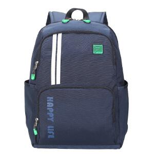 卡拉羊背包双肩包男 时尚潮流14寸电脑包休闲学院风书包运动背包CX5853