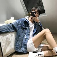春季牛仔夹克男宽松潮流2018新款韩版帅气风男士外套