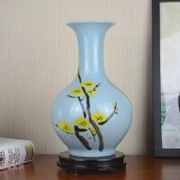 景德镇陶瓷器手绘花瓶客厅创意现代新中式客厅插花家居装饰品摆件