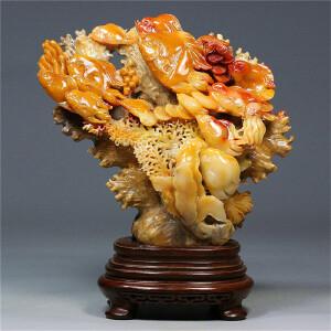 寿山芙蓉石 海底世界