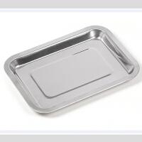 不锈钢食品盘 长方形 平底餐盘