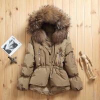 韩版超大毛领羽绒服女短款加厚修身白鸭绒2018冬季外套宽松潮