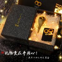 礼品盒包装盒 大号小号长方形牛皮纸盒干花带灯发光礼物盒生日礼品礼盒创意实用送朋友礼物SN7687