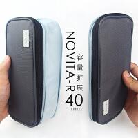 日本KOKUYO国誉淡彩曲奇系列笔袋双拉链大容量文具包WSG-PCC12