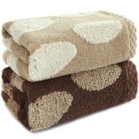 三利 长绒棉毛巾2条装 34×74cm 鱼鳞片状高毛圈提花面巾 112g/条