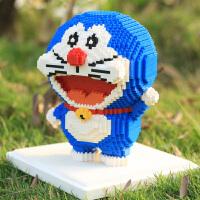 钻石微型小颗粒积木大哆啦小叮当猫蓝胖子公仔儿童创意玩具