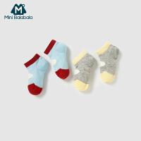 【913超品限时2件3折价:17.7】迷你巴拉巴拉男女婴幼童宝宝袜子儿童短筒袜撞色透气吸汗夏新款两双装