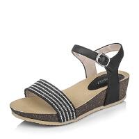 Teenmix/天美意夏季专柜同款绵羊皮革女皮凉鞋6YE10BL6