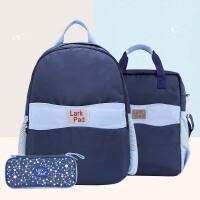 小学生书包套装1-6年级男女孩 书包+手提补习袋+笔袋