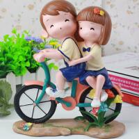 生日礼物女生送女友同学朋友浪漫惊喜创意实用可爱卡通情侣礼物摆件SN0414 单车情侣