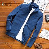啄木鸟 摇粒绒夹克外套男装男士立领夹克抓绒衣拉链开衫上衣外套