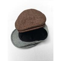 帽子男英伦鸭舌帽男女大头帽户外防晒帽文艺贝雷帽复古前进帽