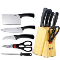 苏泊尔SUPOR套刀厨房刀具套装菜刀切片刀优质不锈钢刀具五件套刀剪T0824-2