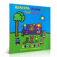 【全店300减100】Reading Makes You Feel Good 爱上阅读 纽约时报畅销Todd Parr