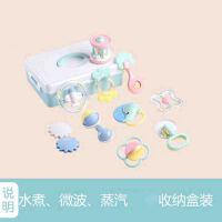 婴儿玩具摇铃0-3-6-12个月礼盒牙胶套装宝宝男女孩1岁