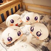 可爱馒头玩偶暖手捂手枕抱枕布娃娃毛绒女生睡觉抱萌女孩