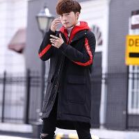 韩版潮流宽松加厚外套羽绒男装冬装帅气棉袄男士中长款棉衣服