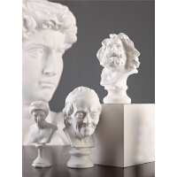 北欧风素描雕像石膏像小摆件创意艺术品雕塑办公室客厅艺术装饰品