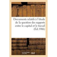 【�A�】Documents Relatifs ? l'?tude de la Question Des Rapport
