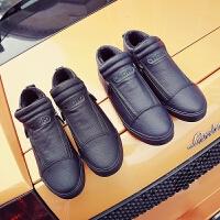 DAZED CONFUSED 潮牌男鞋防水男士棉鞋冬季加绒一脚蹬懒人休闲鞋男高帮鞋短靴