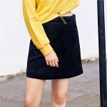 【3折到手价:71】高腰韩版黑色半身裙女冬季新款时尚百搭学生显瘦a字短裙女潮