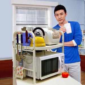 宝优妮 微波炉架置物架2层厨房烤箱架储物架双层收纳架微波炉架子