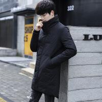 冬季新款男装帅气立领中长款男士羽绒服加厚保暖修身韩版青年外套