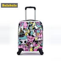 巴拉巴拉女童行李箱儿童学生旅行箱春装2018新款休闲万向轮拉杆箱