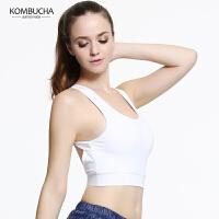 【限时狂欢价】Kombucha瑜伽内衣2018新款女士速干透气瑜伽健身跑步运动内衣无钢圈背心式少女胸衣K0155