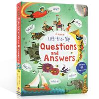 【全店300减100】英文原版 Lift the Flap Questions and Answers 问与答翻翻书 儿