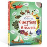 英文原版 Lift the Flap Questions and Answers 问与答翻翻书 儿童撕不烂早教益智书籍