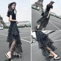 碎花雪纺长裙夏季2019新款时尚韩版两件装夏气质连衣裙女