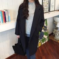 毛呢外套女大衣中长款2018新款流行韩版修身秋冬季呢子加厚学生
