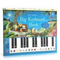 英文原版 Usborne Big Keyboard piano Book 宝宝可以弹的钢琴书 儿童音乐启蒙书早教幼儿玩