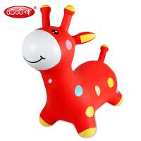 厚小马宝宝坐骑小鹿叮当 哈哈球音乐跳跳马儿童充气玩具户外