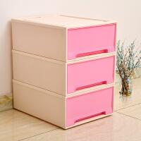 [当当自营]百草园(bicoy)塑料收纳箱 可组合收纳柜抽屉柜 抽屉式储物柜 24L 1个装 樱花粉