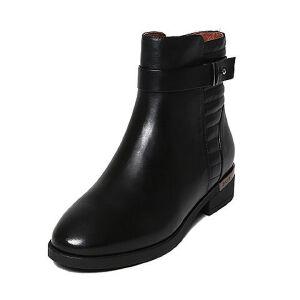 【百丽集团夏季大促,5.28准时开抢】Belle/百丽冬专柜同款牛皮女短靴3C3H3DD6